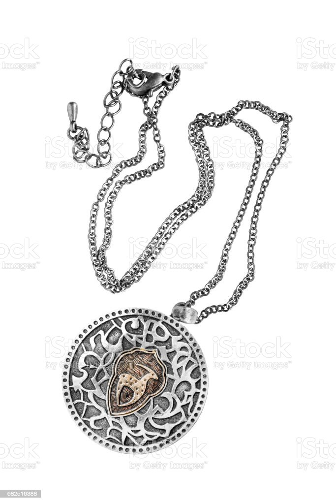 Silver medallion isolated foto de stock libre de derechos