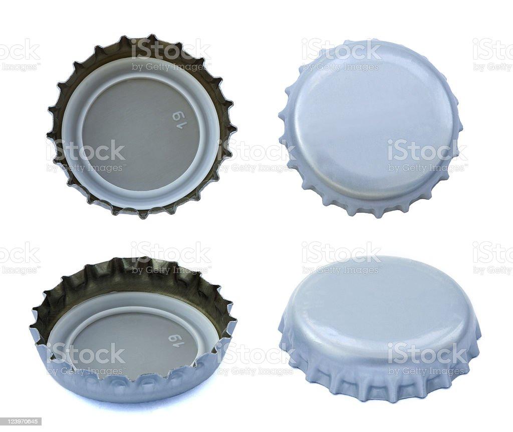 Silberne Metall-Caps – Foto