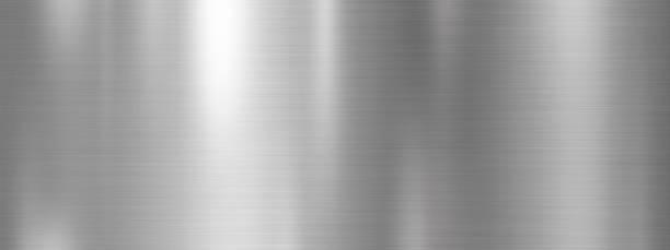 Silber Metall Textur Hintergrund-Design – Foto