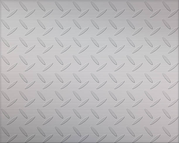 silver metal texture background - diamond plate background stock photos and pictures