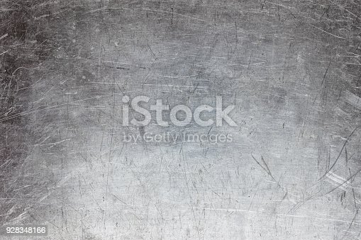 istock Silver metal texture, grunge background of steel or aluminum 928348166