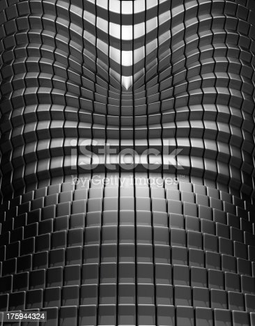 istock Silver metal tile abstract background 175944324