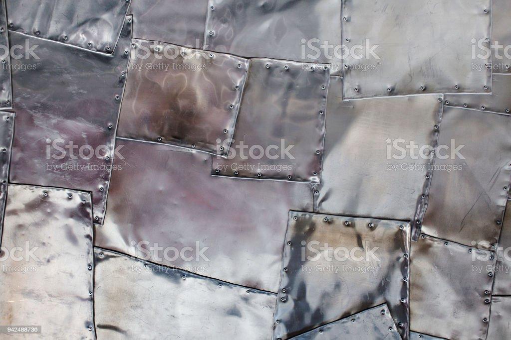 silver metallic background. stock photo