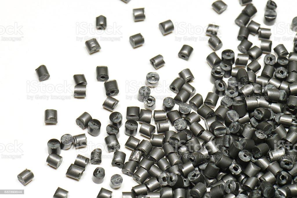 silver metallic polymer stock photo