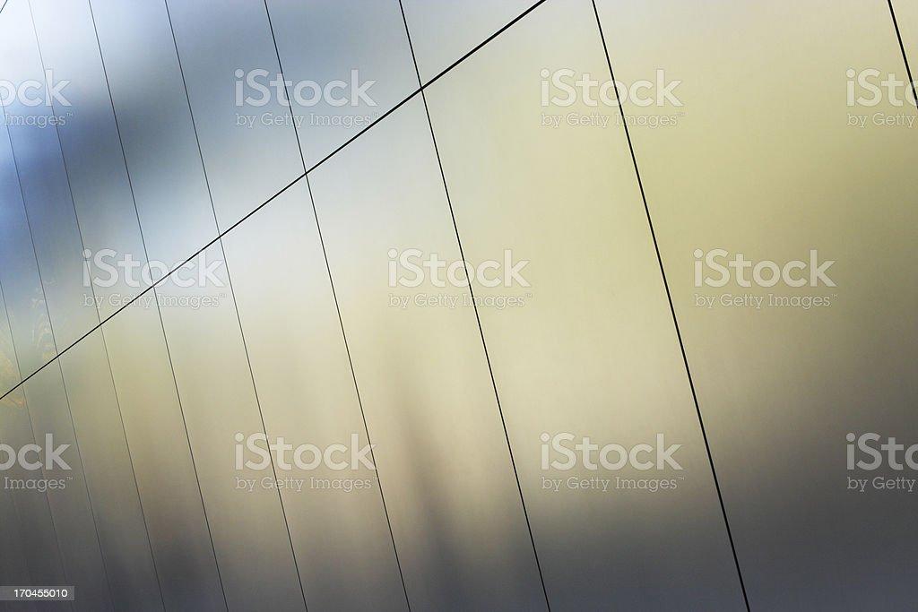 Silver Metallic Wall Panels stock photo