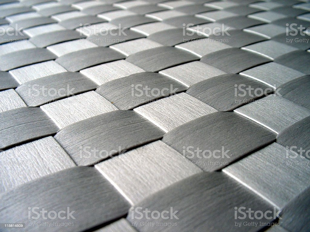 Silver metallic weave royalty-free stock photo