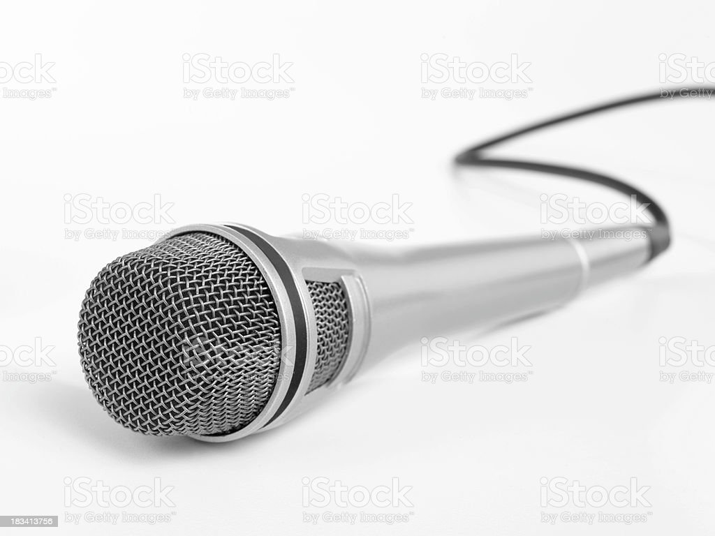 silver microphone royalty-free stock photo