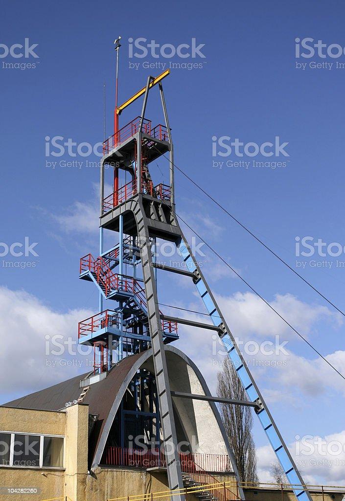 Silver mine stock photo