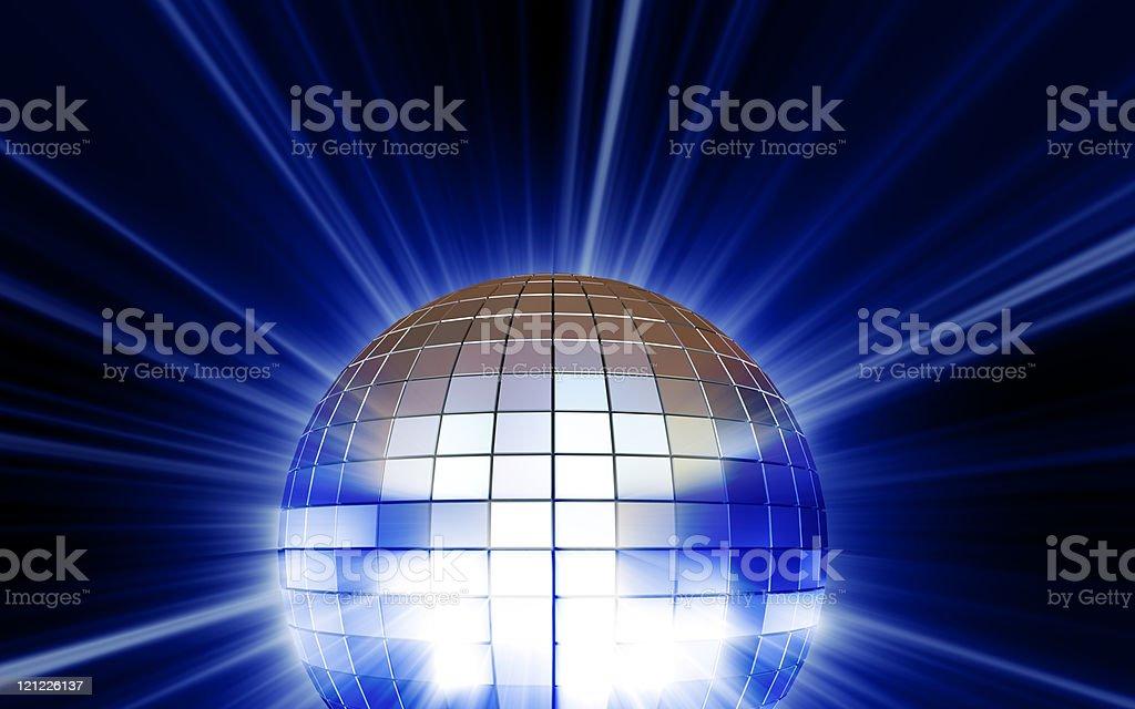 Silver mirrorball royalty-free stock photo