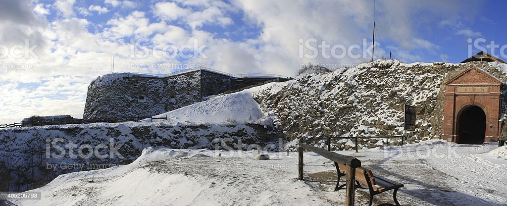 Silver Mountain Fortress stock photo