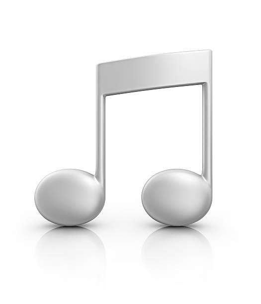 silver note de musique - note de musique photos et images de collection