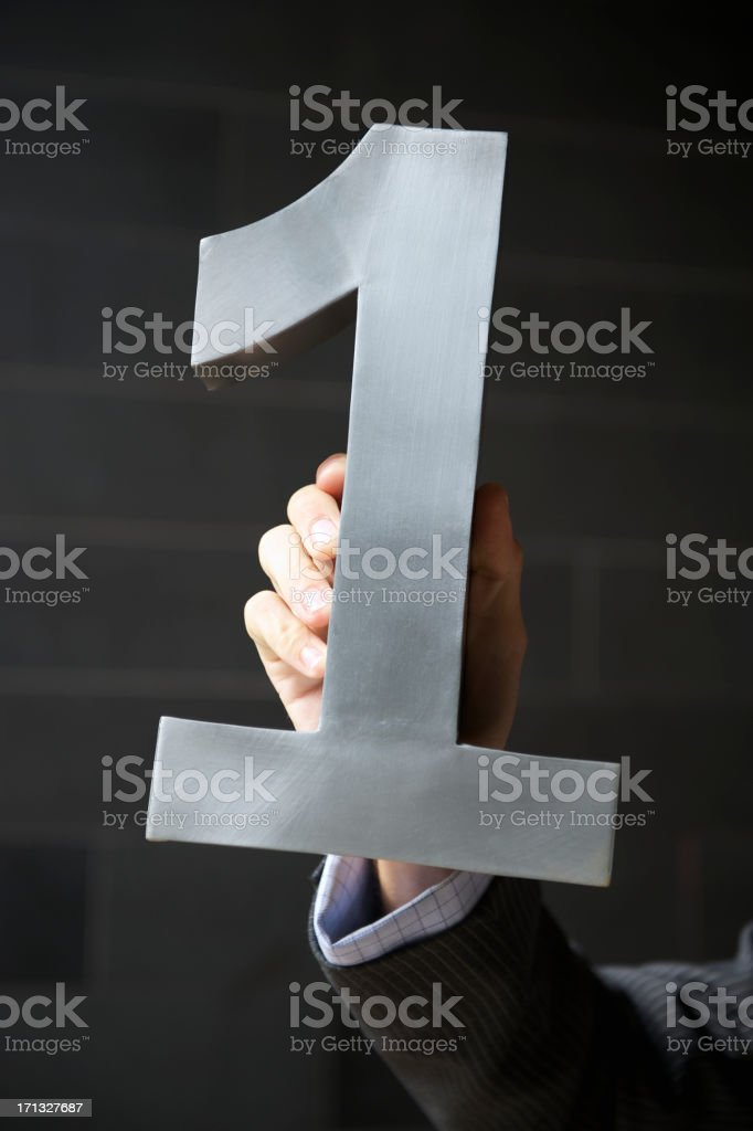 Silver Number One Businessman royalty-free stock photo