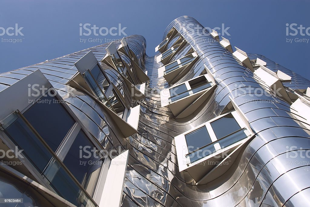 Silver Office Towers royalty-free stock photo