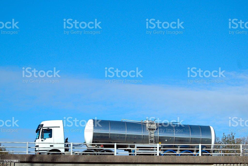 silver oil tanker royalty-free stock photo