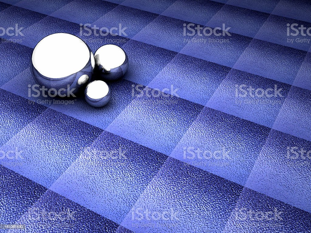 Silver on Blue 01 royalty-free stock photo