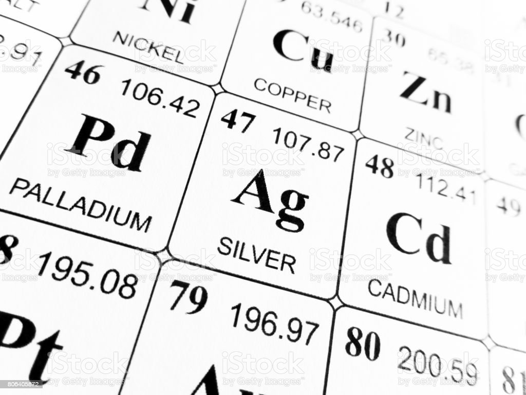 Silver On The Periodic Table Of The Elements Stock Photo More