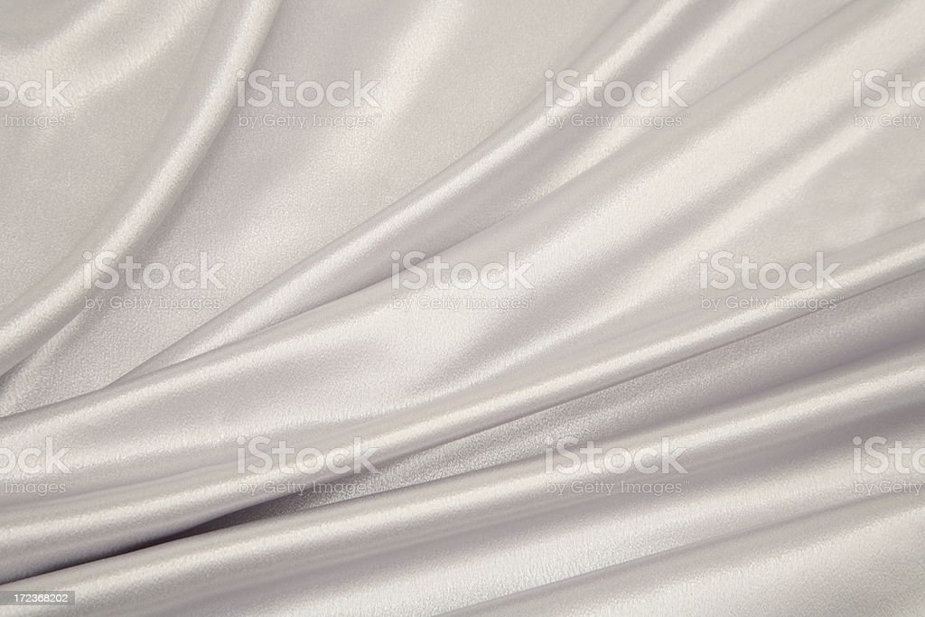 Silver or white Satin Series with creases royalty-free stock photo