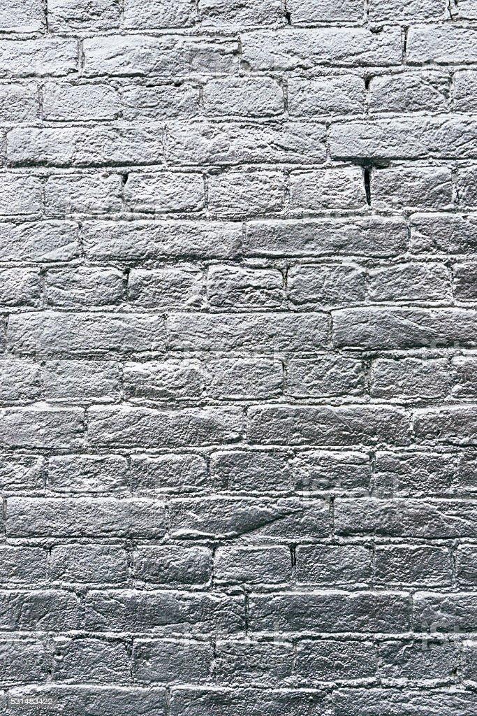 Photo Libre De Droit De Silver Peinture Sur Mur De Briques