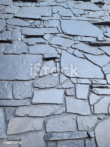 Silver painted Rock wall