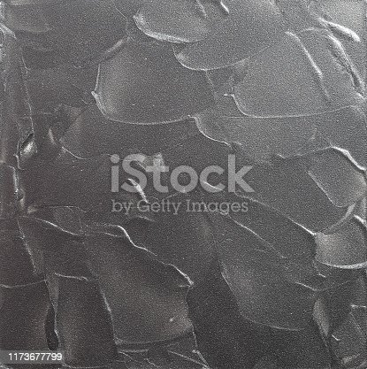 537816275 istock photo Silver Painted Textured Brush Strokes Background Art, square, no people with copy space. 1173677799