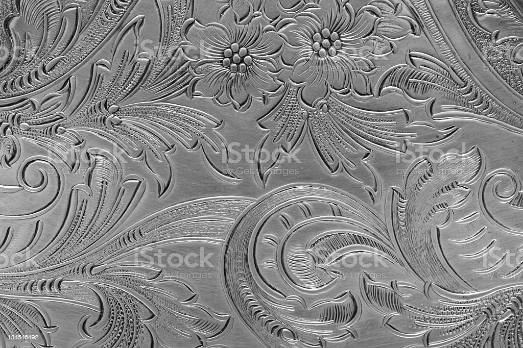 Silver pattern stock photo