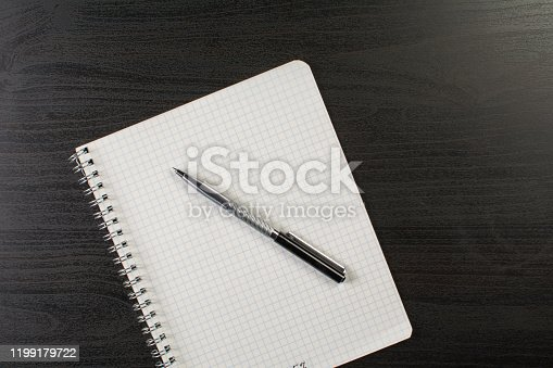 1139340462 istock photo Silver pen lies on a squared notebook 1199179722