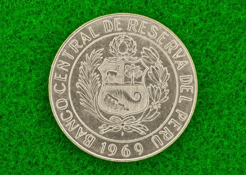 Silver Peruvian Coin
