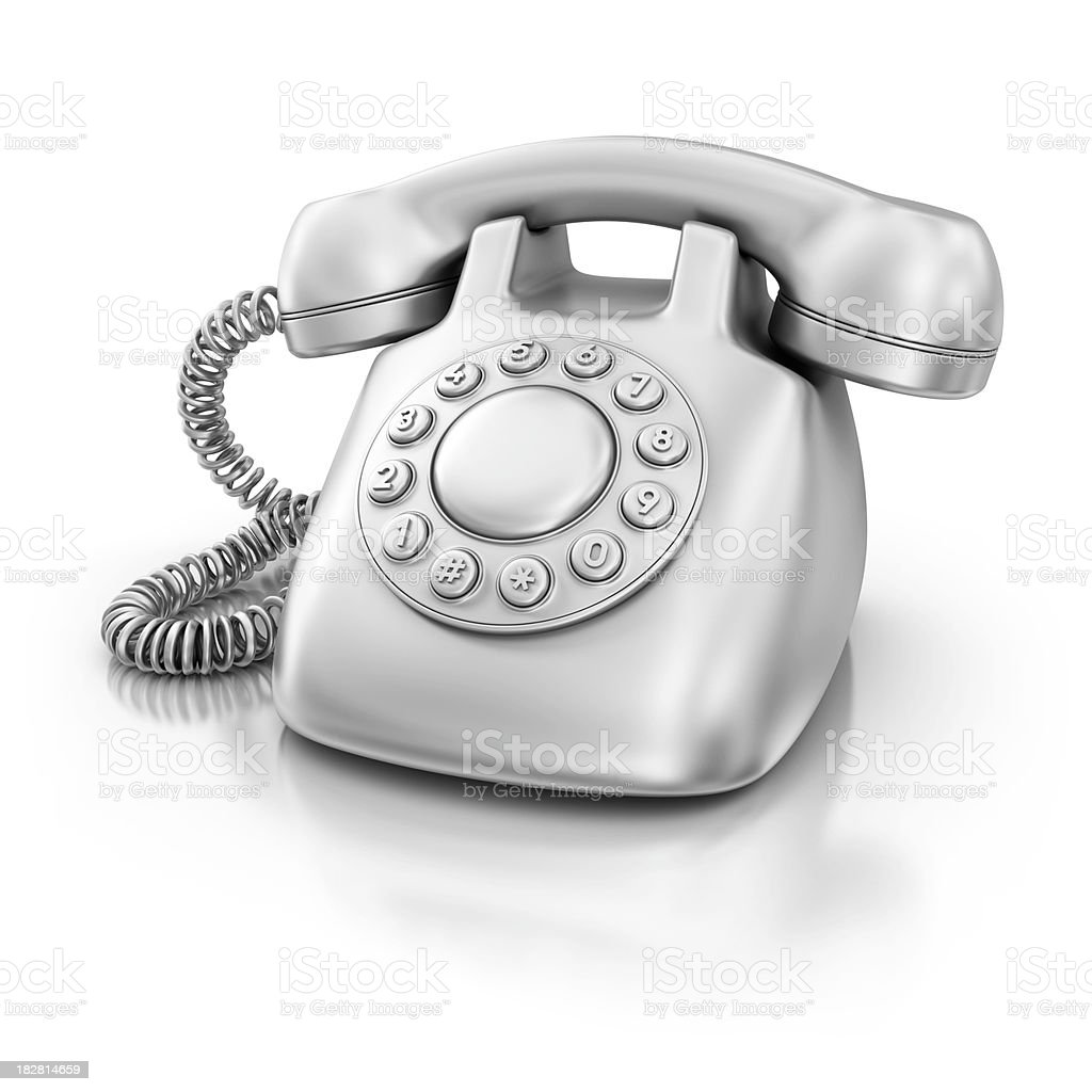 silver phone royalty-free stock photo