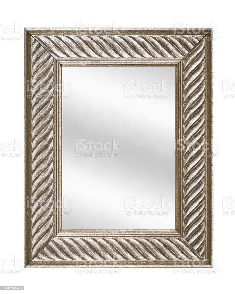 Cornice Argento Con Specchio Moderno E Dallo Stile ...