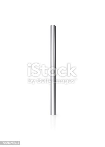505982545 istock photo Silver pipes isolated on white background with reflect floor. 3d 538025604