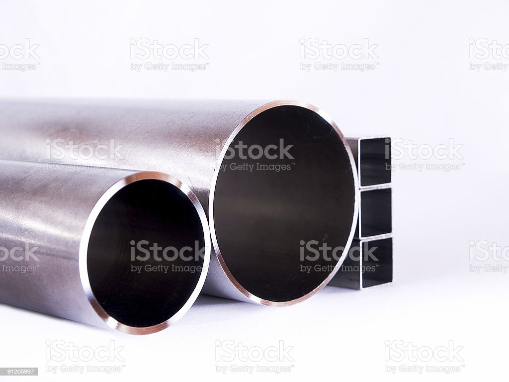 Silver pipes royalty-free stock photo