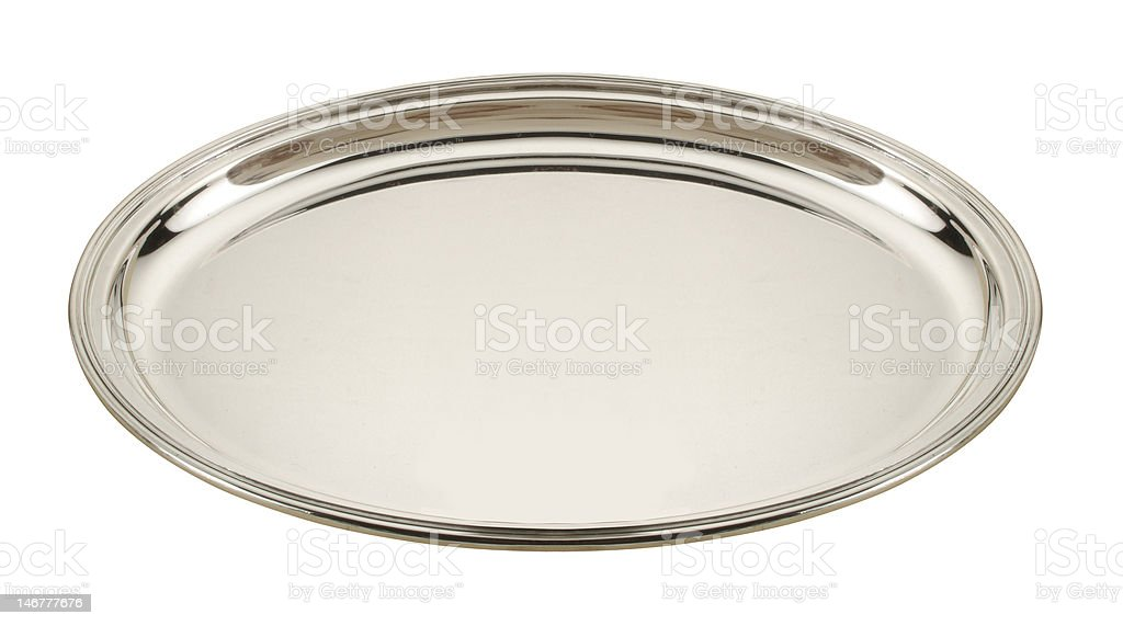 silver plate stock photo