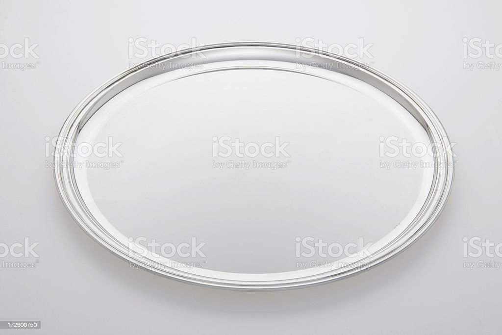 Silver Platter stock photo