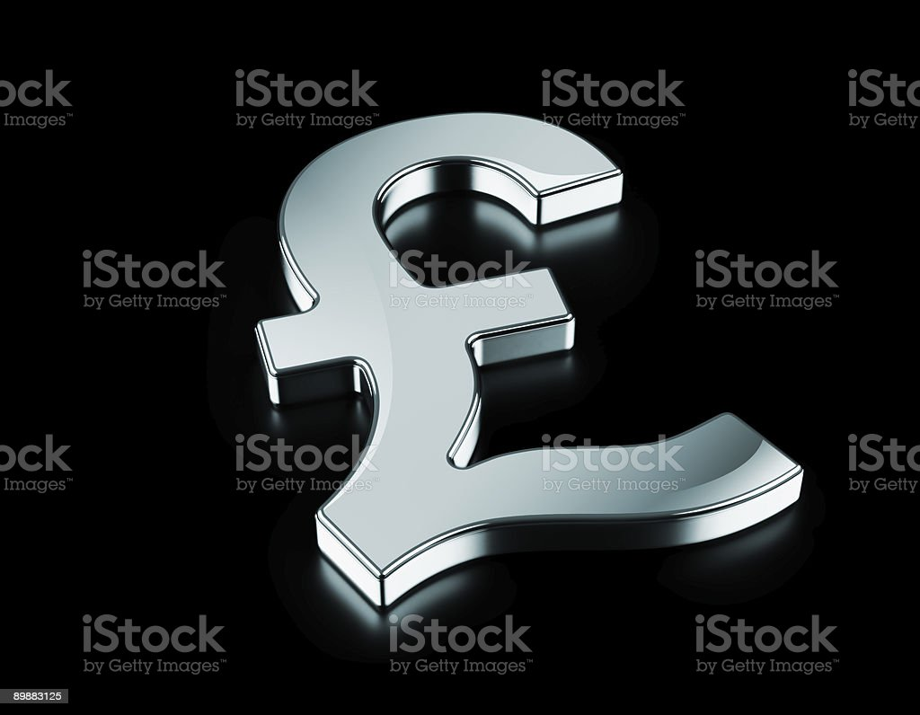 Silver Pound symbol royalty-free stock photo