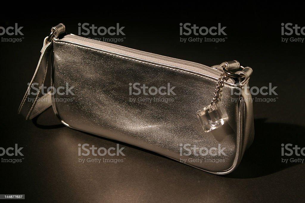 Silver Purse stock photo