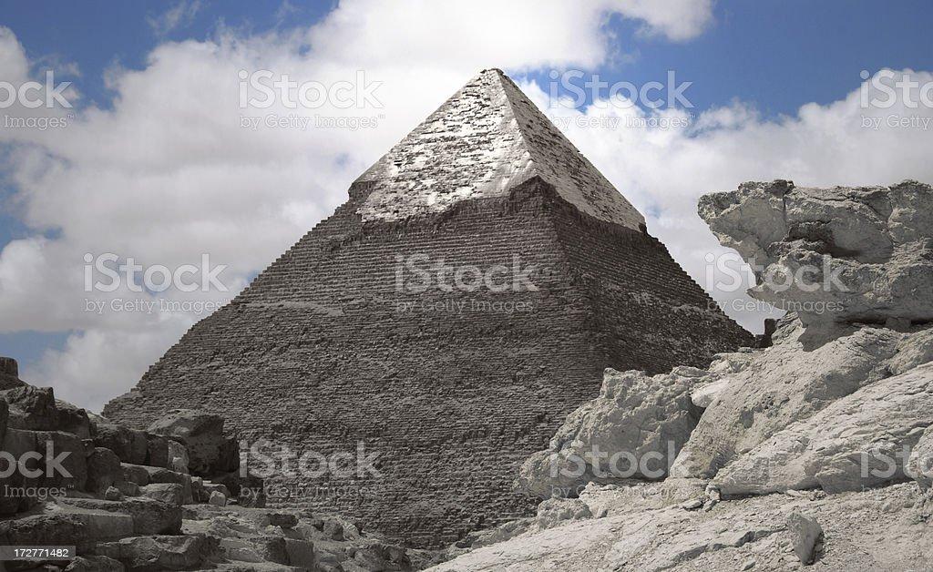 Silver pyramids royalty-free stock photo