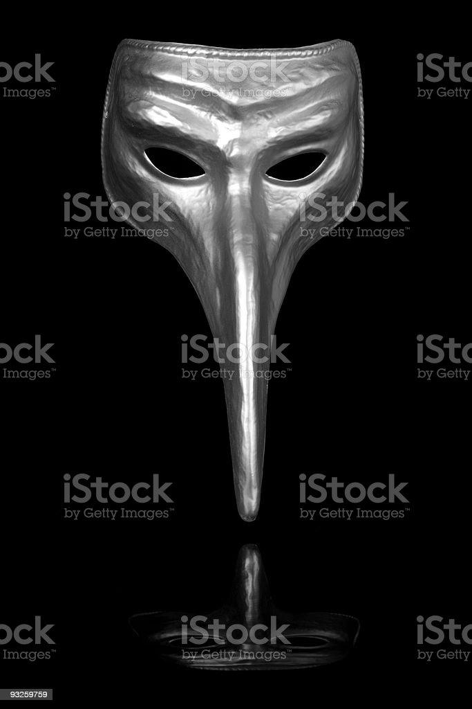 Silver Renaissance Carnival Mask royalty-free stock photo