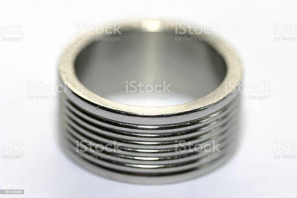 Silver ring stock photo