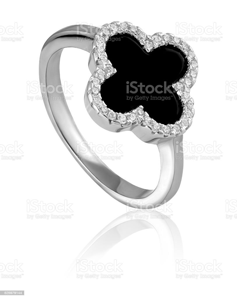 silver ring with a stone stock photo