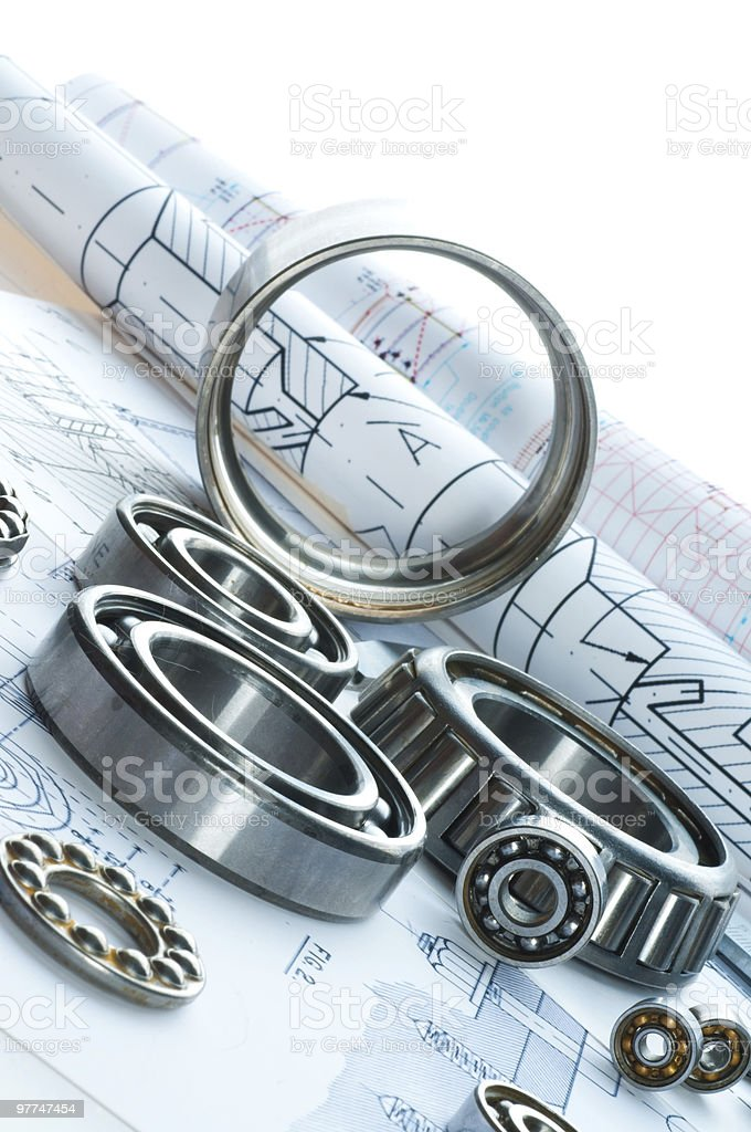 Silver rings and building accessories royalty-free stock photo