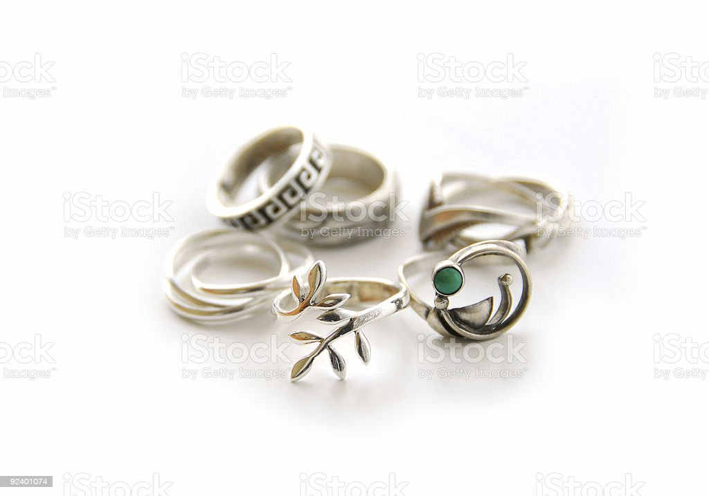 Silver rings royalty-free stock photo