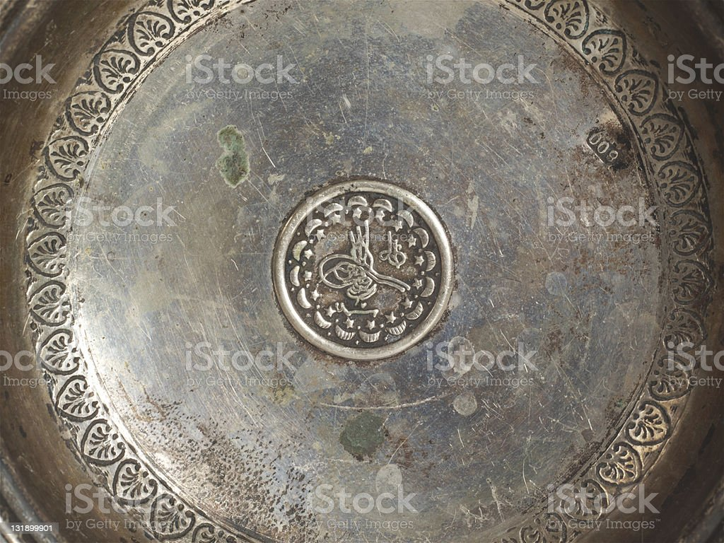 silver saucer royalty-free stock photo