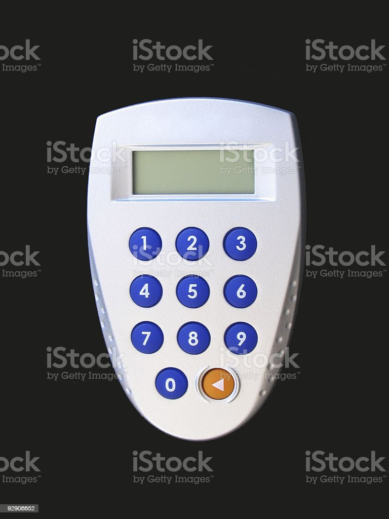 Silver security number pad royalty-free stock photo