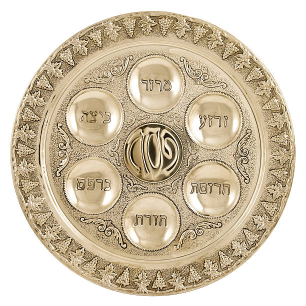 Silver seder plate  seder plate stock pictures, royalty-free photos & images