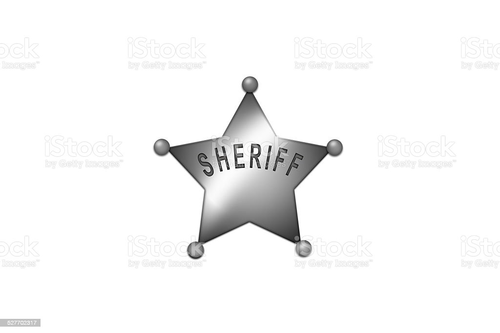 Silver Sheriff Badge Stock Photo More Pictures Of Aluminum Istock