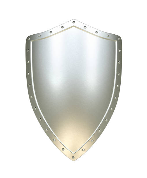 Silver shield , isolated stock photo