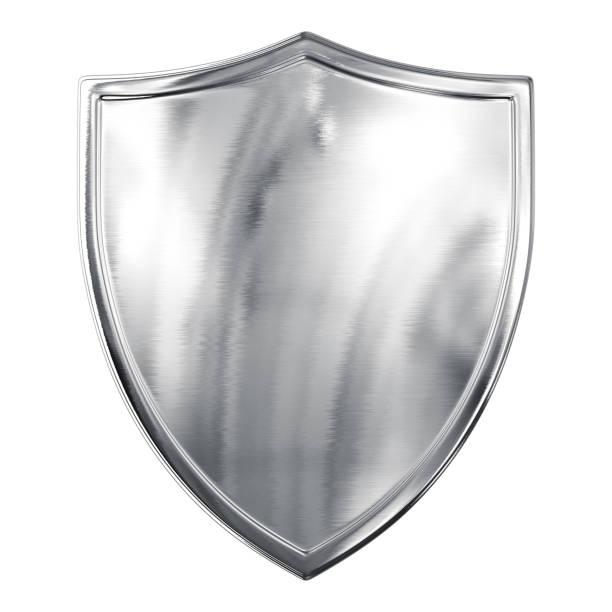 Silver Shield stock photo