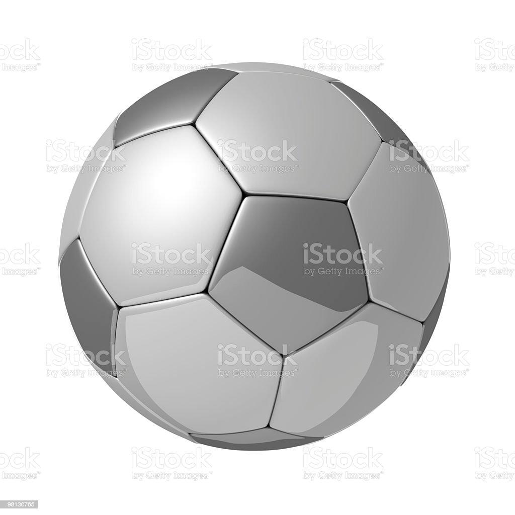 Argento lucido con riflessione di football foto stock royalty-free