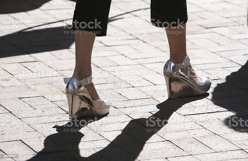 silver shoes royalty free stockfoto