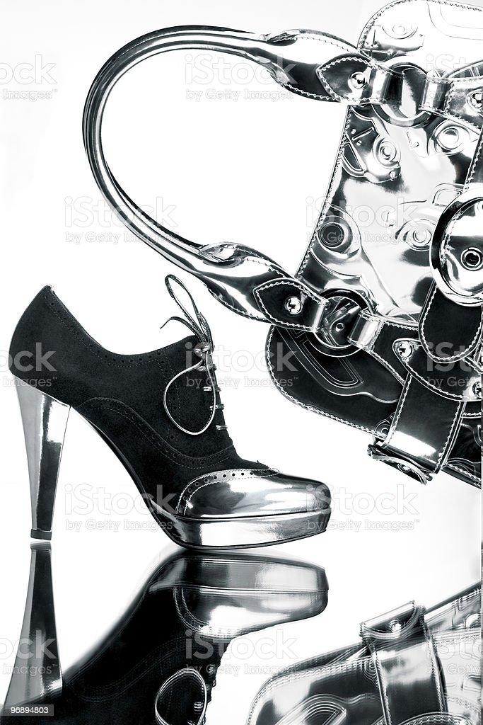 Silver shopping. royalty-free stock photo